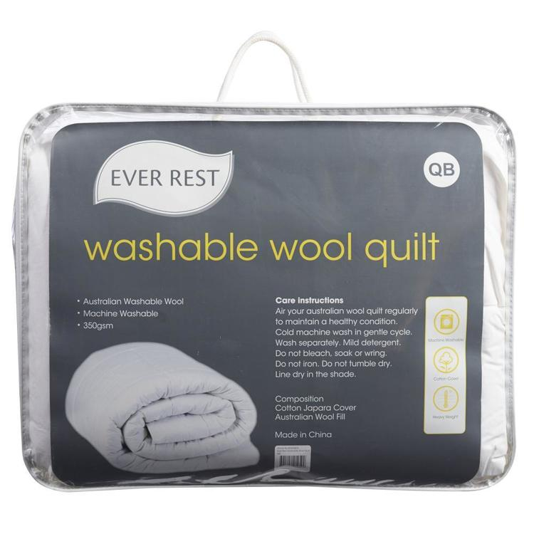 Ever Rest Washable Wool Duvet Inner White