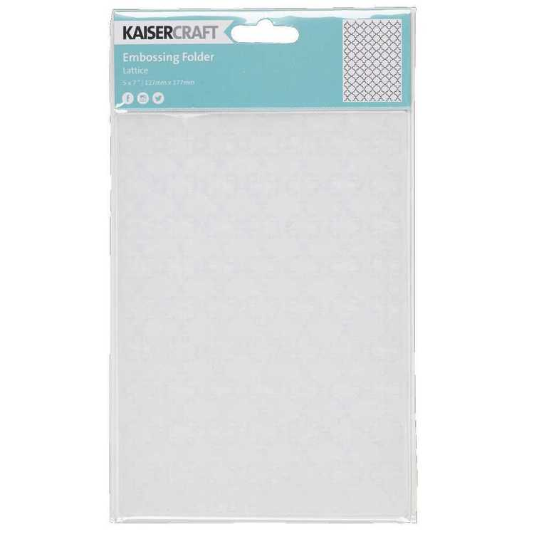 Kaisercraft Lattice Embossing Folder Clear 5 x 7 in