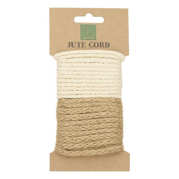 Shamrock Craft Naturals Woven Jute Cord