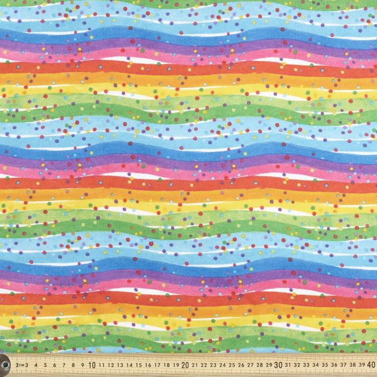 Rainbow Spot Printed Flannelette