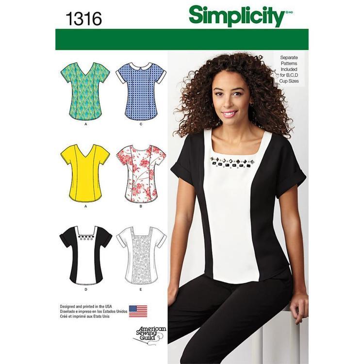 Simplicity Pattern 1316 Women's Top