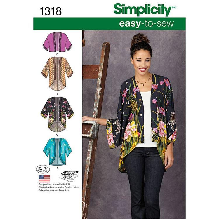 Simplicity 1318 Women's Top  XX Small - XX Large