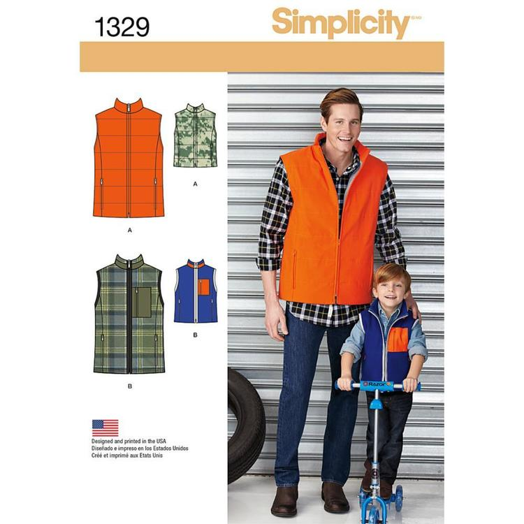 Simplicity 1329 Boy's Vest  Small - X Large