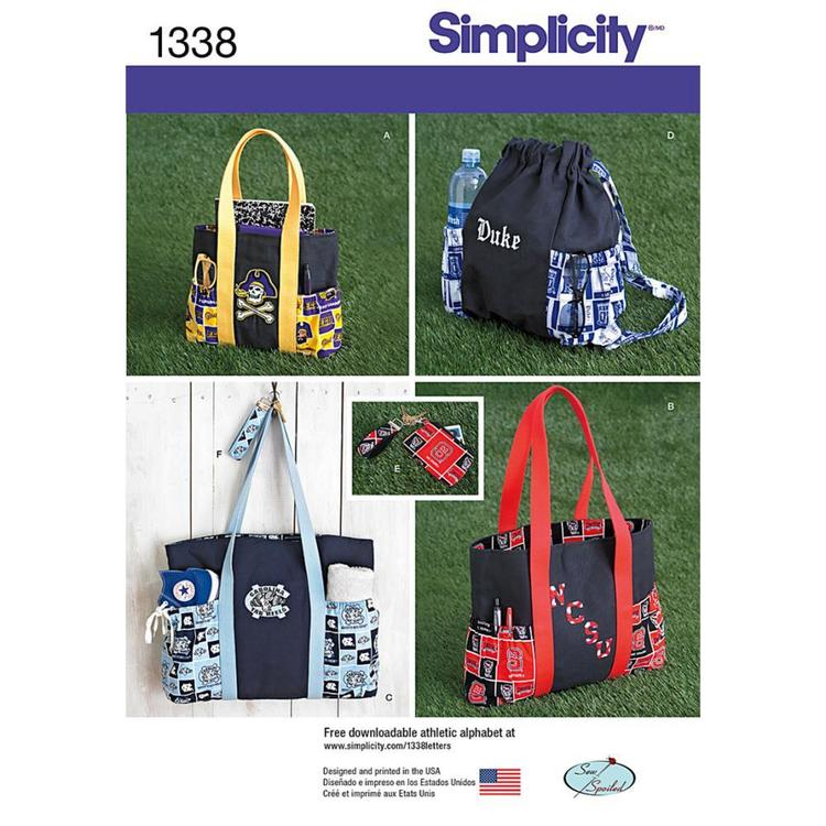 Simplicity 1338 Bag  One Size