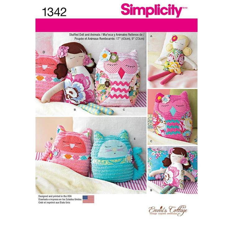 Simplicity 1342 Stuffed Animals