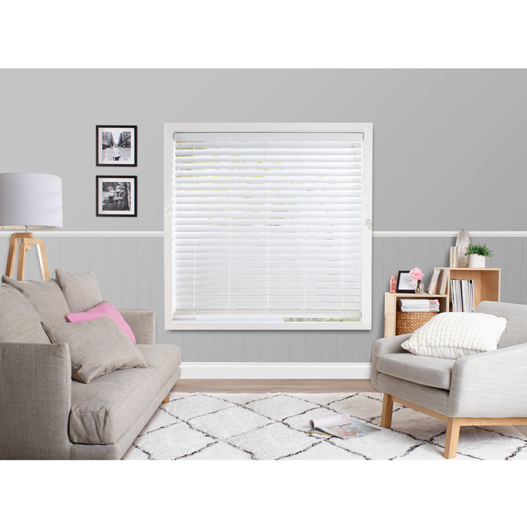 Windowshade 63 mm Faux Wood Venetian Blinds White