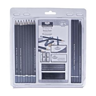 Royal & Langnickel Start In Art 21 Piece Sketching Set