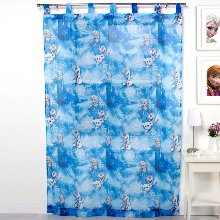 Disney Frozen Tab Top Sheer Curtain Blue 140 x 213 cm