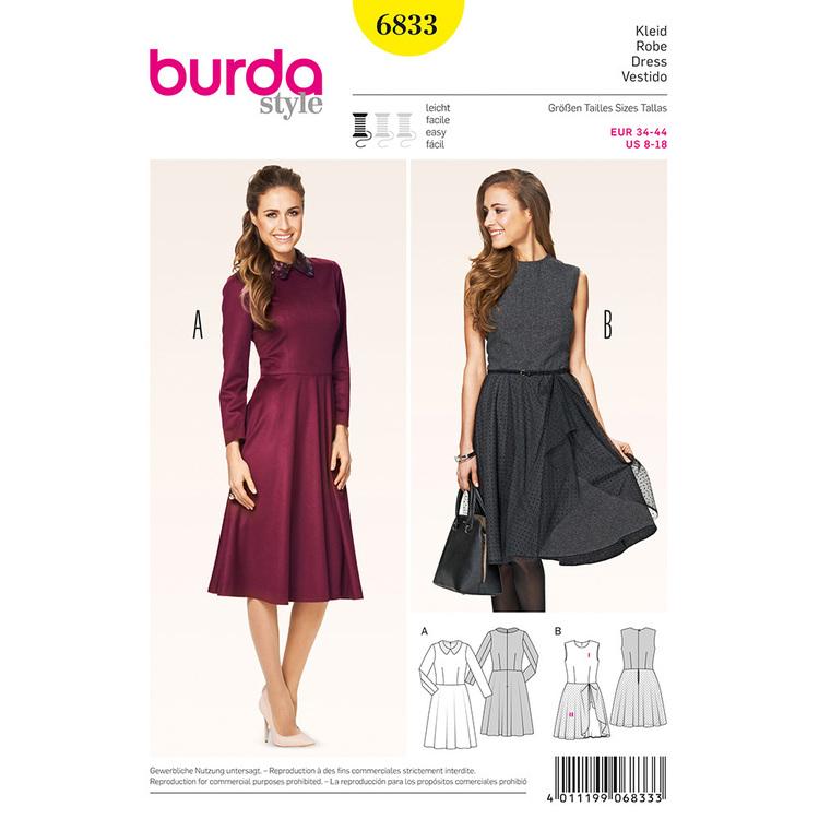 Burda Pattern 6833 Women's Dress