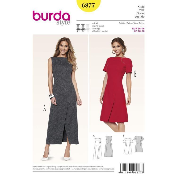 Burda Pattern 6877 Women's Dress