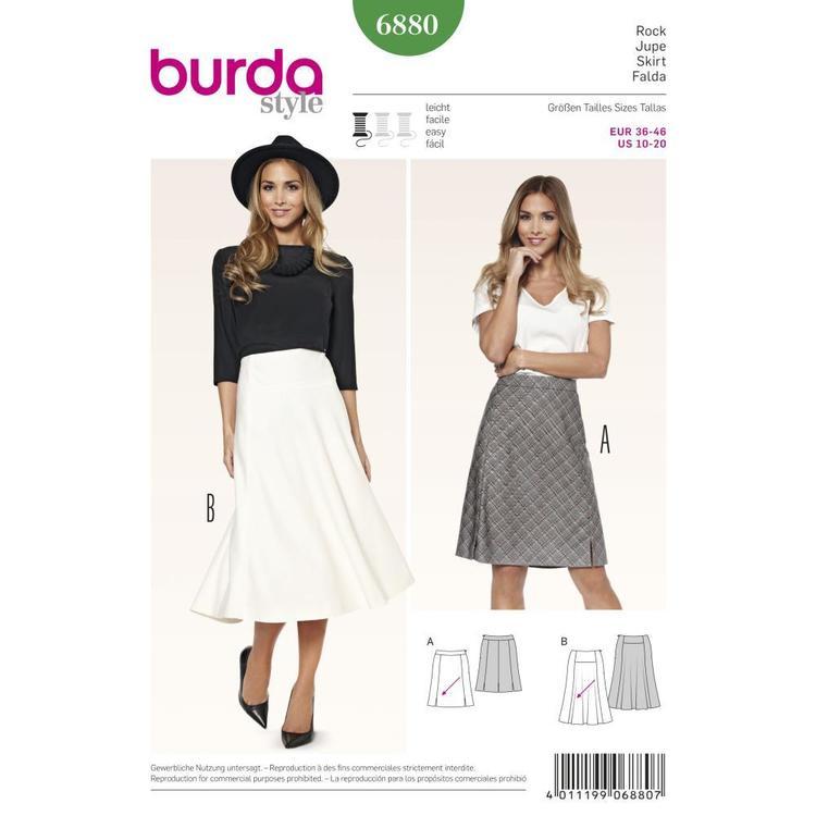Burda Pattern 6880 Women's Skirt