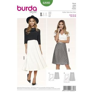 Burda Pattern 6880 Women's Skirt