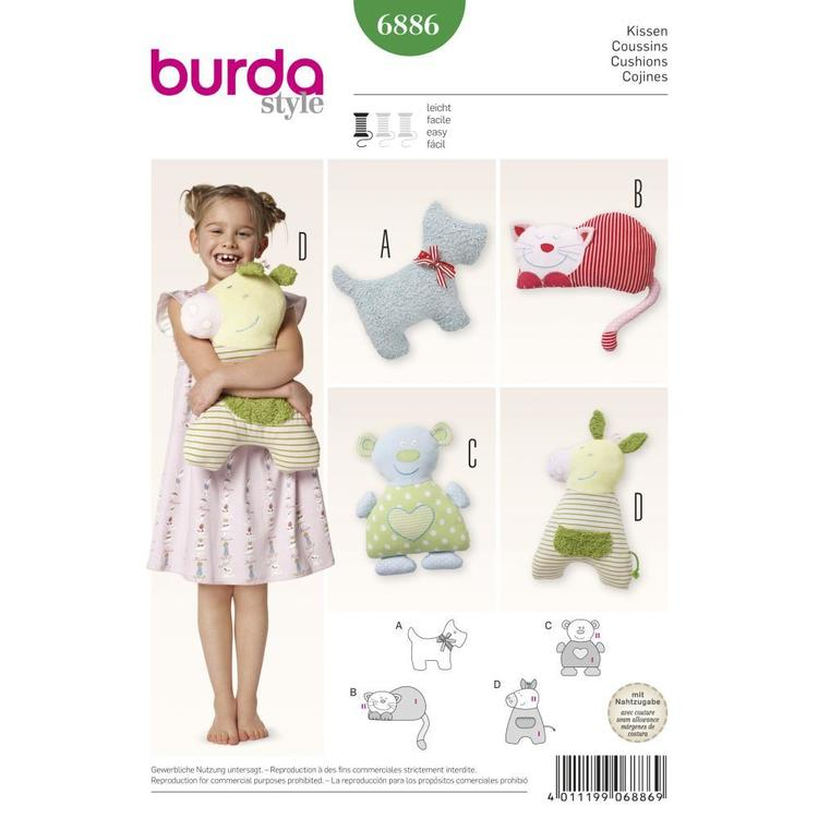 Burda Pattern 6886 Kids Pillows