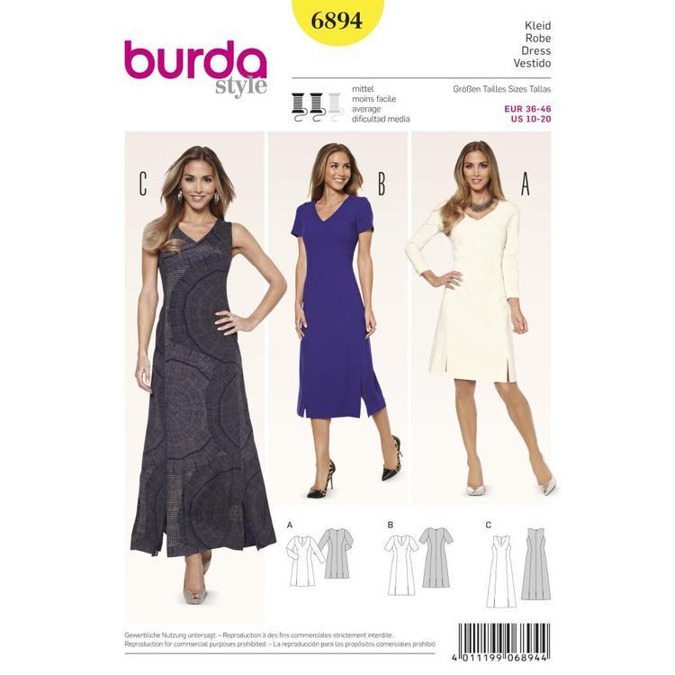 Burda Pattern 6894 Women's Dress