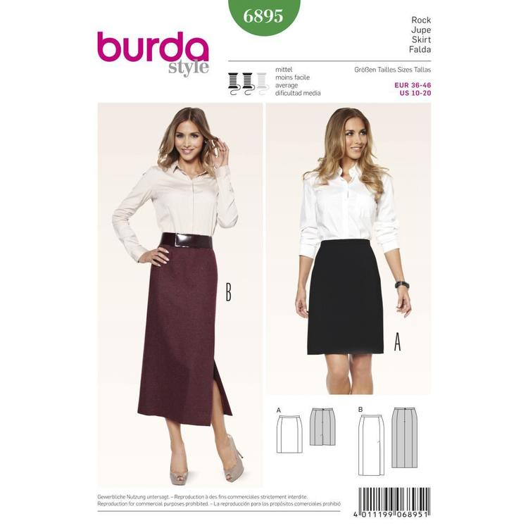 Burda Pattern 6895 Women's Skirt  10 - 20