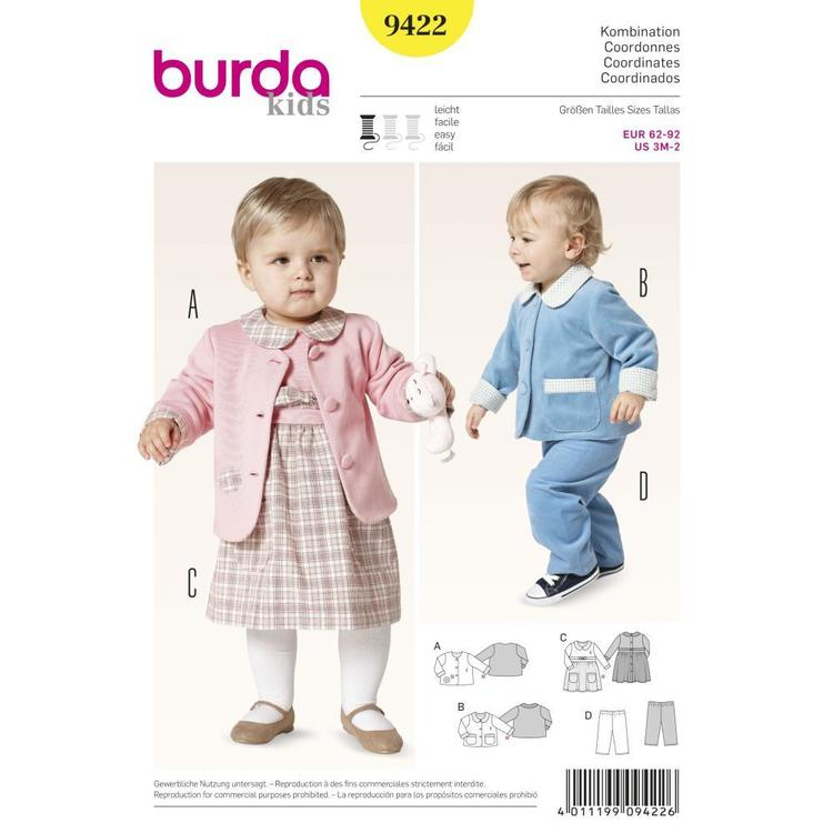 Burda Pattern 9422 Baby Coordinates
