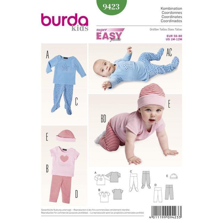 Burda Pattern 9423 Baby Coordinates