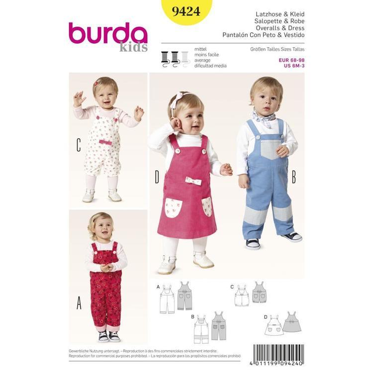Burda Pattern 9424 Baby Coordinates