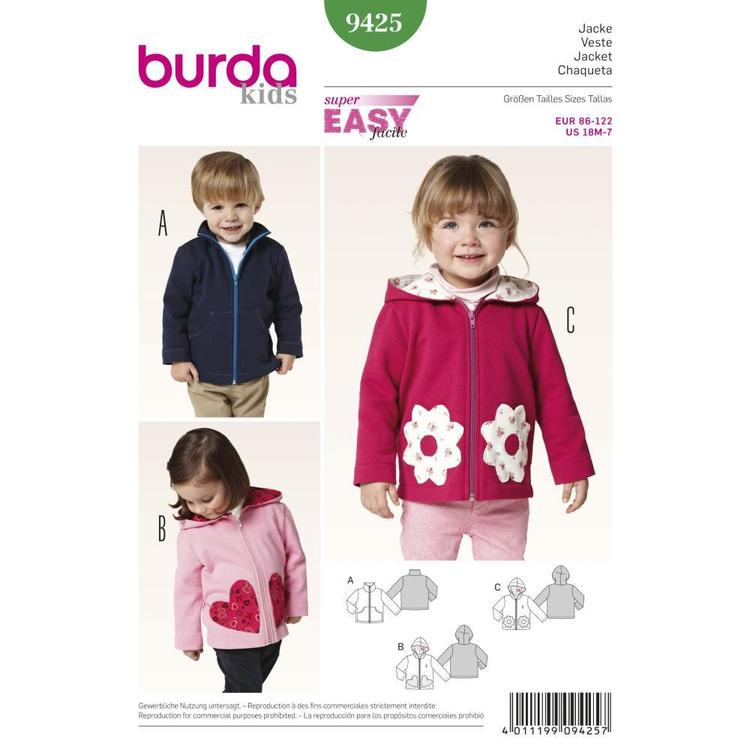 Burda Pattern 9425 Kids Coordinates