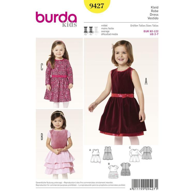 Burda 9427 Girl's Dress  2 - 7