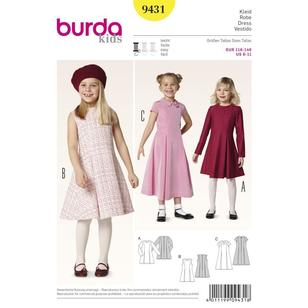 Burda Pattern 9431 Girl's Dress
