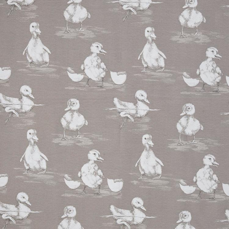 Duck Printed Woven Fabric Taupe 150 cm