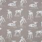 Lamb Printed Woven Fabric Taupe 150 cm