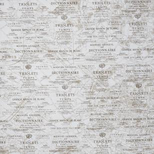 Paris Map Printed Woven Fabric