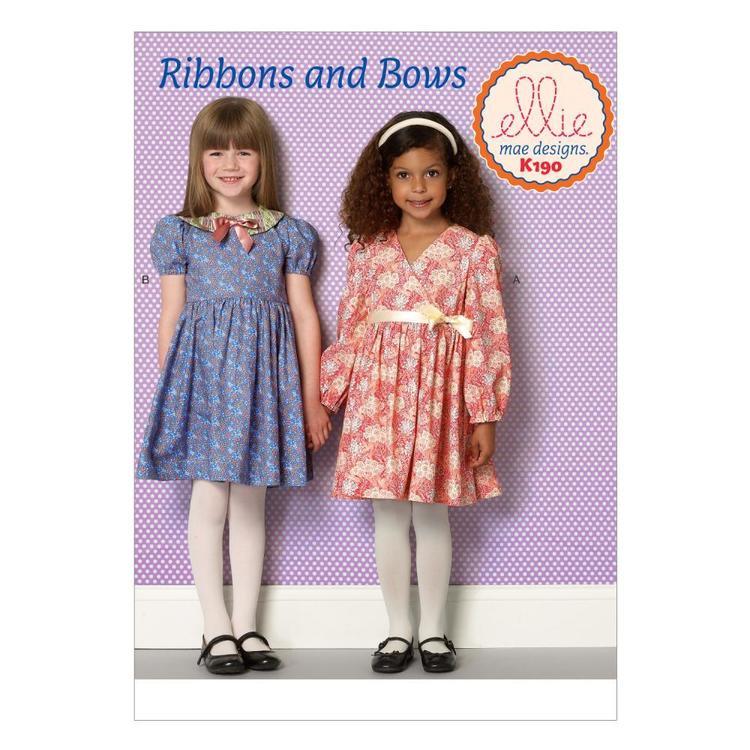 Kwik Sew Pattern K0190 Girls' Dresses