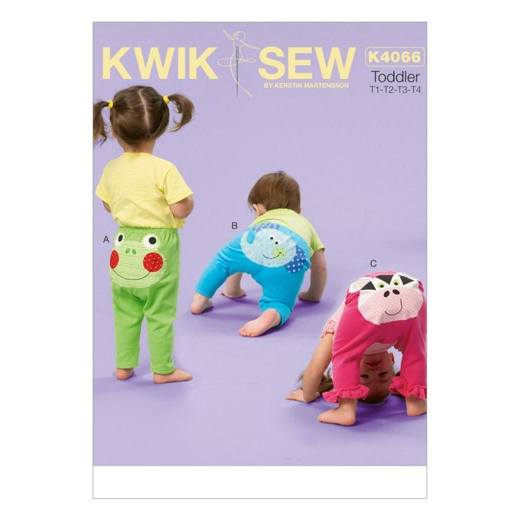 Kwik Sew K4066 Toddlers' Leggings With Appliquacutes One Size