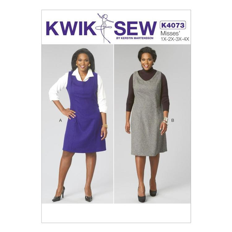 Kwik Sew K4073 Womens' Dress One Size