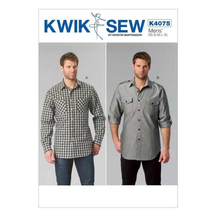 Kwik Sew Pattern K4075 Men's Shirts