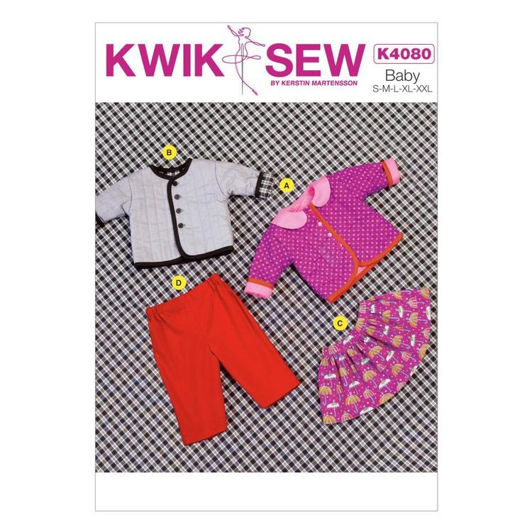 Kwik Sew Pattern K4080 Baby Jacket Skirt & Pants