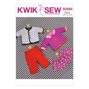 Kwik Sew Pattern K4080 Baby Jacket Skirt & Pants