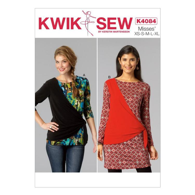 Kwik Sew K4084 Misses' Tops One Size