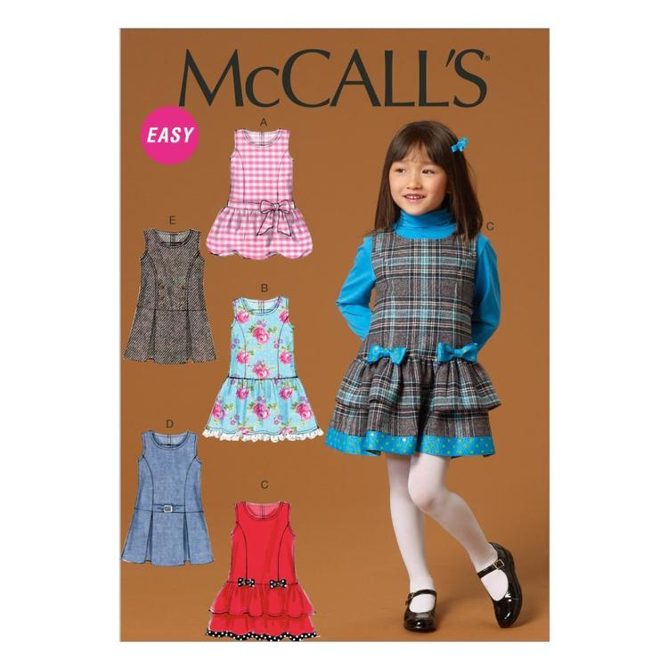 McCall's Pattern M7008 Girls' Dress