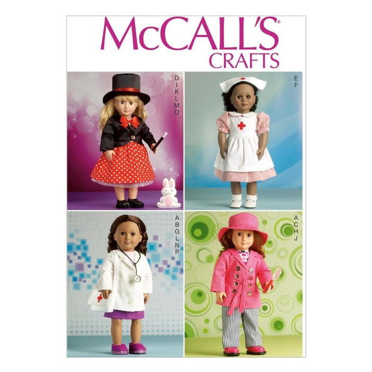 McCall's Pattern M7031 Clothes For 18