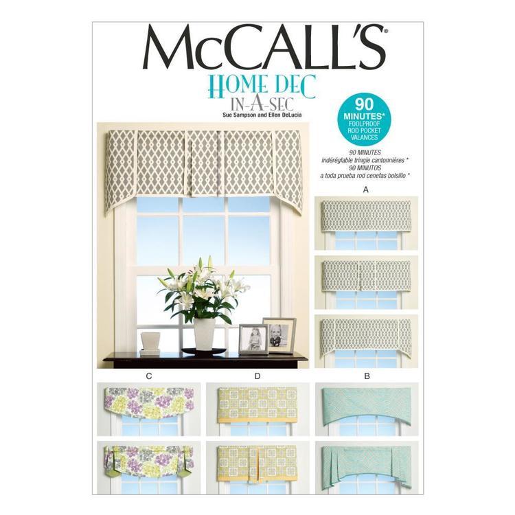 McCall's Pattern M7033 Window Treatments