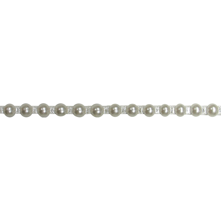 Simplicity Half Pearl Trim Ivory 6 mm