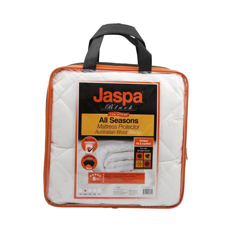 Jaspa Black All Seasons Mattress Protector White