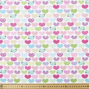 Love Hearts Printed Flannelette