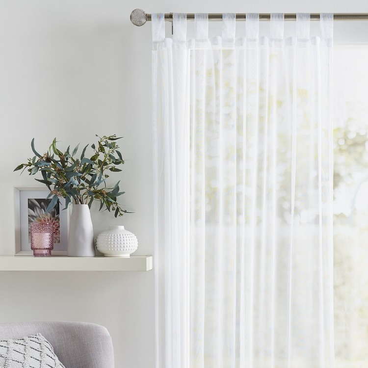 Caprice Blush Tab Top Curtain - Everyday Bargain