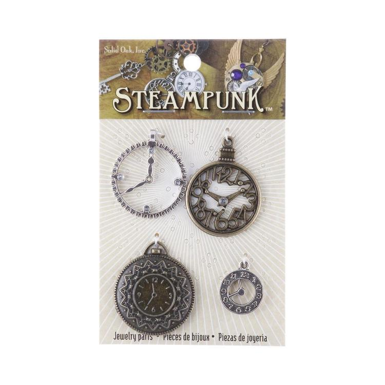 Steampunk Clock Charms Style I