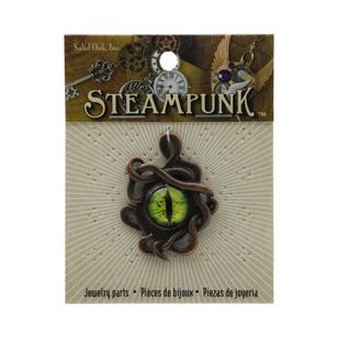 Steampunk Dragon Eye / Octopus Pendant