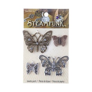 Steampunk Butterfly Charms