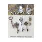Steampunk Medium Key Charms Multicoloured