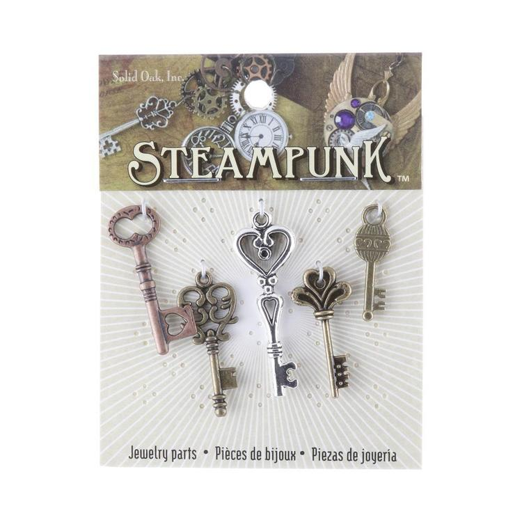 Steampunk Medium Key Charms