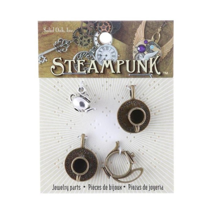 Steampunk Tea Time Charms Multicoloured