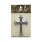 Steampunk Large Cross Pendant Silver