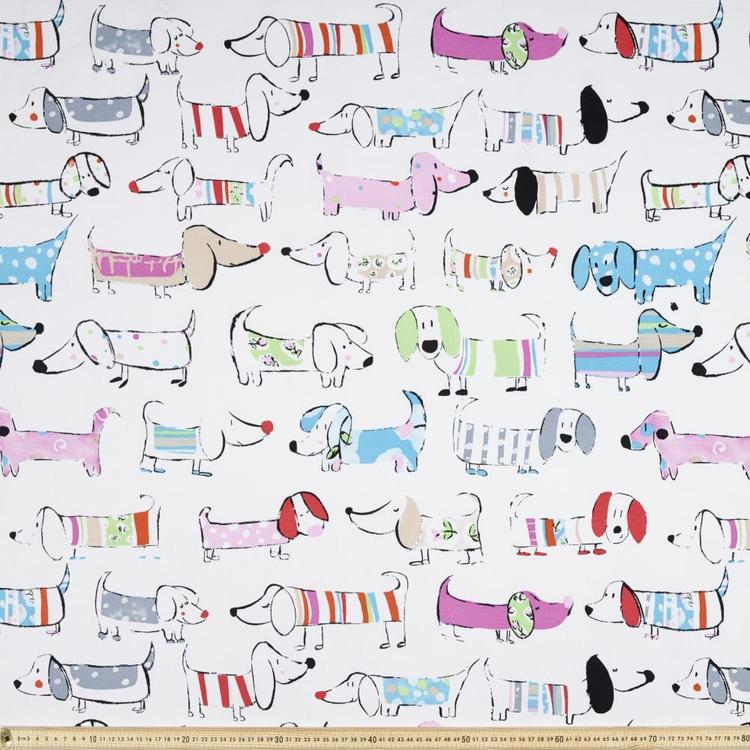 Lots A Dogs Printed Canvas